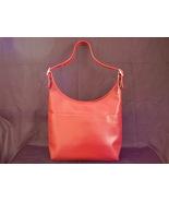 Small Bucket Zip Purse Handbag Tomato Red - $45.00