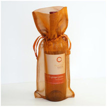 4x Copper Bronze Gold Wine Bag Gift Favor Pouch 6x14 Gift Bags Organza S... - $6.99