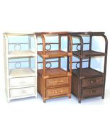 Rattan Wicker Handmade Bookcase w/2 Drawers and w/3 Shelves - $119.99+