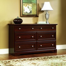Dresser Chest Drawers Cherry Wood Bedroom Furniture Storage TV Stand Dre... - $386.05