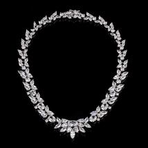 Royal Marquise Necklace With Cubic Zirconia, Bridal Necklace, CZ Bridesm... - $57.97