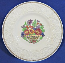 Windermere Multicolor by Wedgwood DINNER PLATE flower basket center AK78... - $59.99
