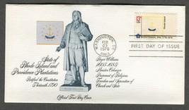 Feb 23 1976 State Flags: Rhode Island #1645 FDC Fleetwood - $5.49