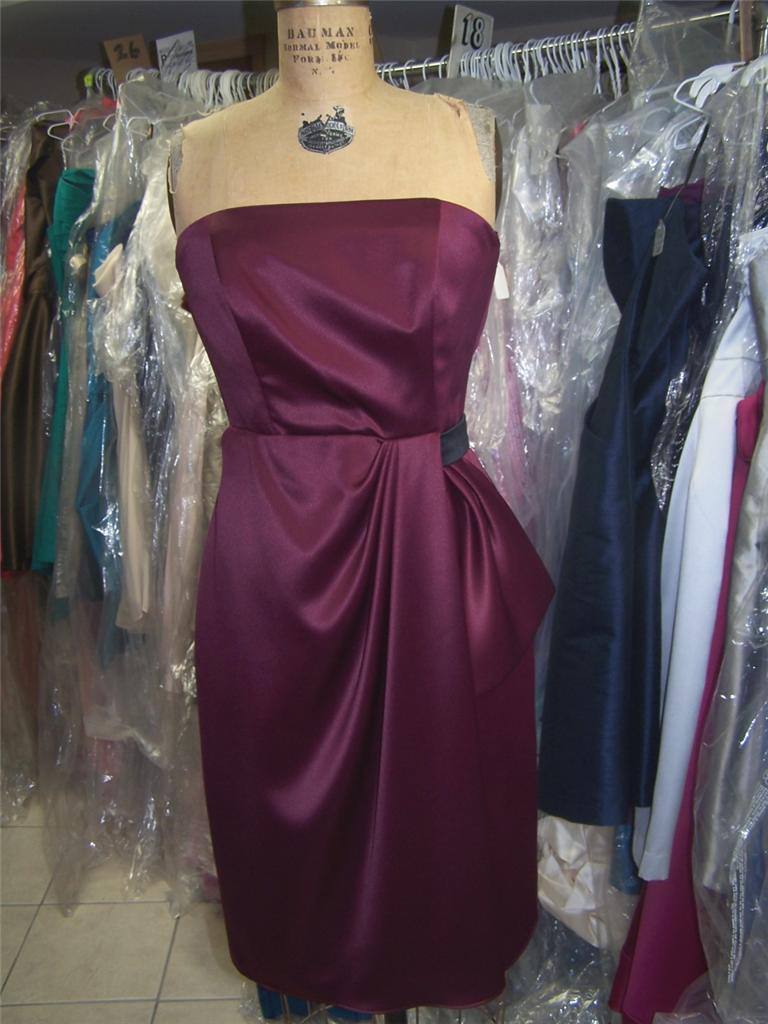Bridesmaid / Cocktail Dress...Sample......Burgundy....Sz 4 - $14.84
