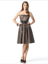 Dessy 2836....Knee-length, Strapless Dress.....Bailey.....Sz .6 - $472,75 MXN