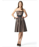 Dessy 2836....Knee-length, Strapless Dress.....Bailey.....Sz .6 - $500,90 MXN
