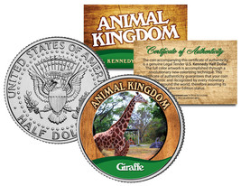 GIRAFFE * Animal Kingdom Series * JFK Kennedy Half Dollar U.S. Coin - $8.95