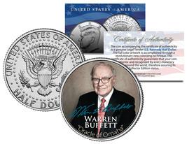 WARREN BUFFETT Most Successful Investor of the 20th Century JFK Half Dol... - $8.95