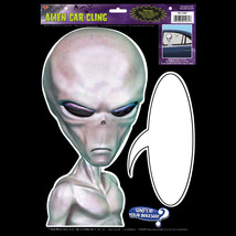 Funny Car Cling ALIEN BACKSEAT DRIVER X-Files Sci-Fi Mirror Decal Decora... - $4.92