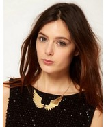 Charming Gold Angel Wings Bib Necklace - $7.99