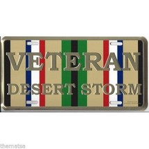 DESERT STORM VETERAN RIBBON CAR METAL LICENSE PLATE MADE IN USA - $29.69