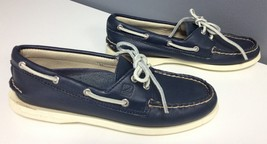 SPERRY TOP SIDER Navy Blue Leather Lace Up Casu... - $34.64