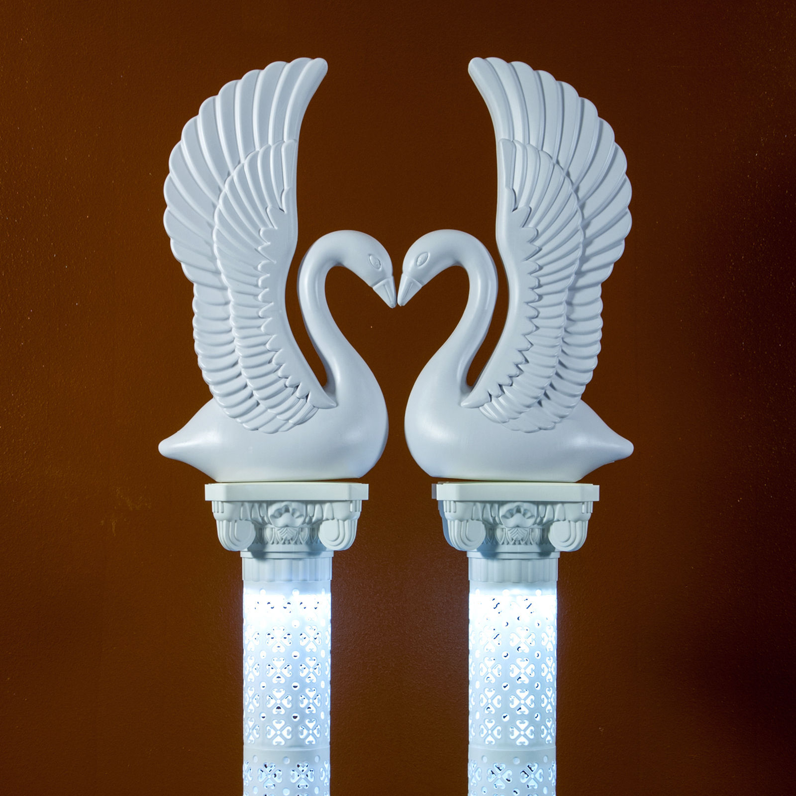 Elegant White Plastic Swans And Roman And 11 Similar Items