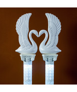 Elegant White Plastic Swans and Roman Wedding Columns Decorative Prop Set - $84.14+