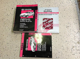 1995 1996 Toyota Supra Service Repair Shop Manual OEM Set W EWD & Supple... - $217.75