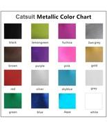 Metallic Custom Size Fit Zip Front - Back Sleeveless Tank Catsuit  - $78.95