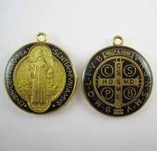 200pcs of Epoxy Round Saint Benedict Medals free DHL shipping - $127.16