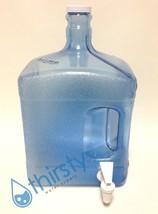 3 Gallon Reusable Square Water Bottle Spigot Faucet Drinking Dispenser C... - $27.10