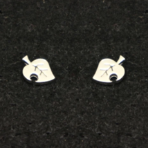 Sterling Silver Animal Crossing New Leaf Earring Stud - $32.00