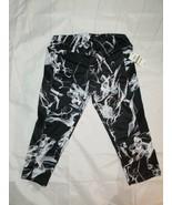 Material Girl Active Women Mesh-Inset Cropped Short Leggings Black Marbl... - $20.57