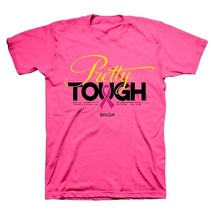 Pretty Tough Breast Cancer Awareness Women's Christian T-Shirt - Proverb... - $16.00+