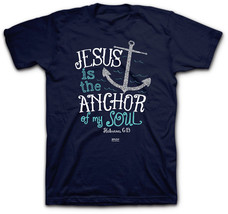 Women's Christian T-Shirt  - Jesus Is My Anchor - Hebrews 6:19 - 100% Co... - $16.00+