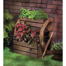 Wagon Wheel Double Tier Planter - $89.95