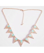 Punk Exaggerated Triangle Cluster Alloy Necklace(Green) - $7.99