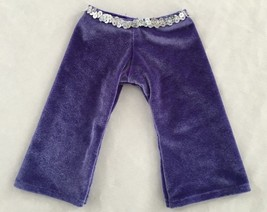 "Purple 5X9"" AMERICAN GIRL Velvet Pants w Sequin Band (laying flat) Doll ... - $7.61"