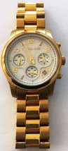 Michael Kors Runway MK5305 Wristwatch Gold MOP Mother Pearl DEFECTIVE - $12.30