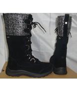 UGG ATLASON FRILL Black event Waterproof Suede Tall Snow Boot Size US 6 NIB - $156.37