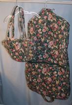 Vtg Vera Bradley Design Springtime Print Retired Garment Bag Travel Bag ... - $67.73