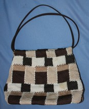 The Sak Purse Handbag Multi Color Brown Patchwork Madras Woven - $27.72