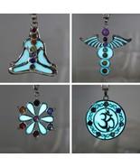 Women Healing Point Meditation Symbol Design Pendant Necklaces Glow In T... - $8.98