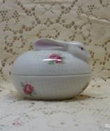 Vintage ANDREA BY SADEK Floral Design Oval Porcelain Trinket/Ring Box - $13.00