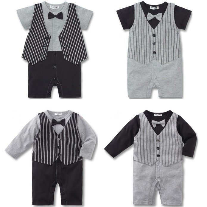 Baby Kid Toddler Boy Gentleman Onesie Bodysuit Romper Jumpsuit Tuxedo Outfit Set