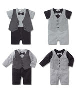 Baby Kid Toddler Boy Gentleman Onesie Bodysuit Romper Jumpsuit Tuxedo Ou... - $26.50
