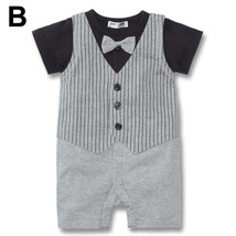 Baby Kid Toddler Boy Gentleman Onesie Bodysuit Romper Jumpsuit Tuxedo Outfit Set image 3