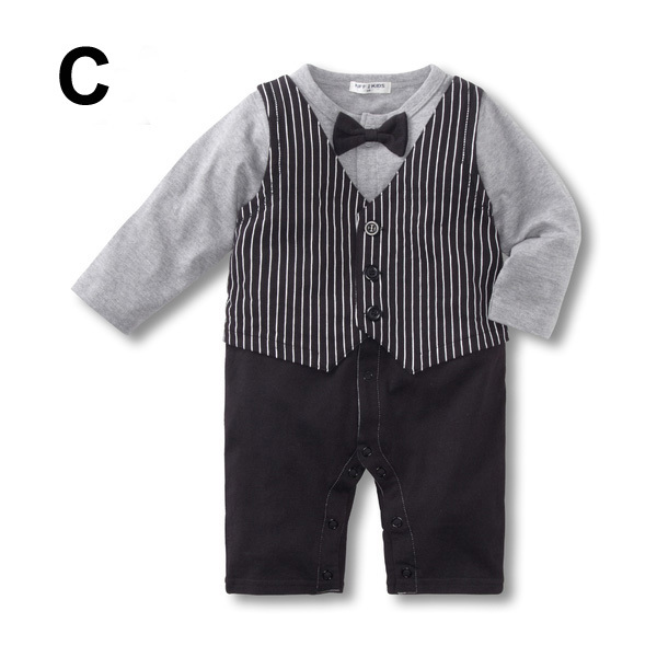 Baby Kid Toddler Boy Gentleman Onesie Bodysuit Romper Jumpsuit Tuxedo Outfit Set image 4