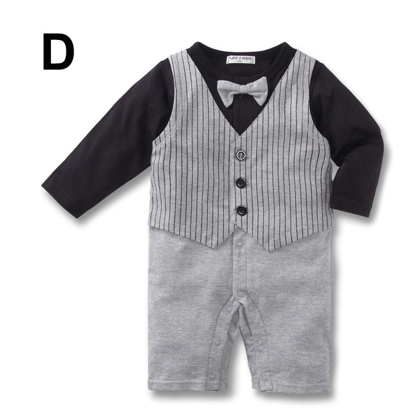 Baby Kid Toddler Boy Gentleman Onesie Bodysuit Romper Jumpsuit Tuxedo Outfit Set image 5