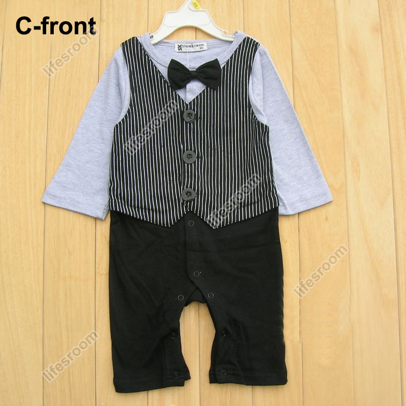 Baby Kid Toddler Boy Gentleman Onesie Bodysuit Romper Jumpsuit Tuxedo Outfit Set image 6