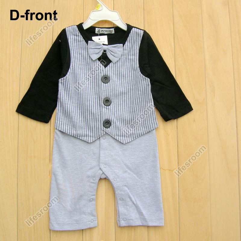 Baby Kid Toddler Boy Gentleman Onesie Bodysuit Romper Jumpsuit Tuxedo Outfit Set image 7