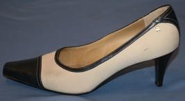 Etienne Aigner Sz 10M 10 M Heels Pumps Two Tone Canvas  Shoes - $28.69