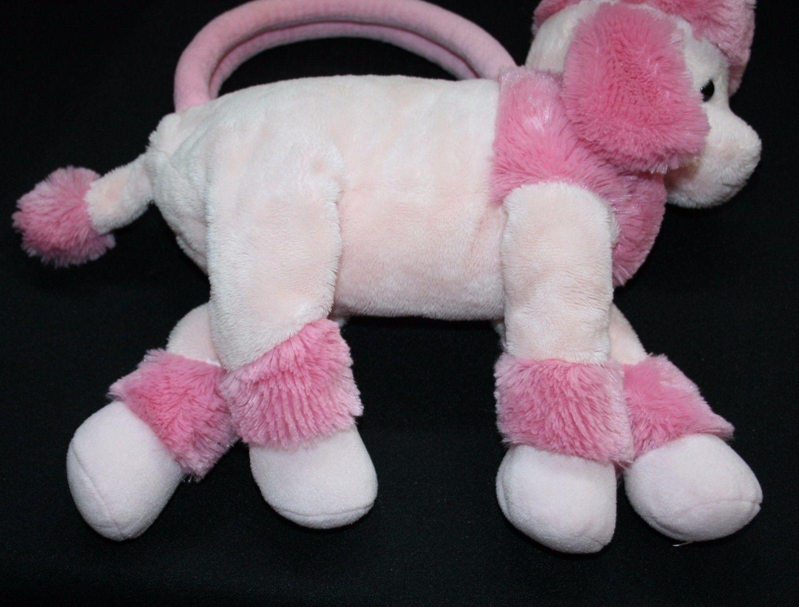 Pink Dog Toy : Girls pink poodle purse handbag plush russ stuffed animal