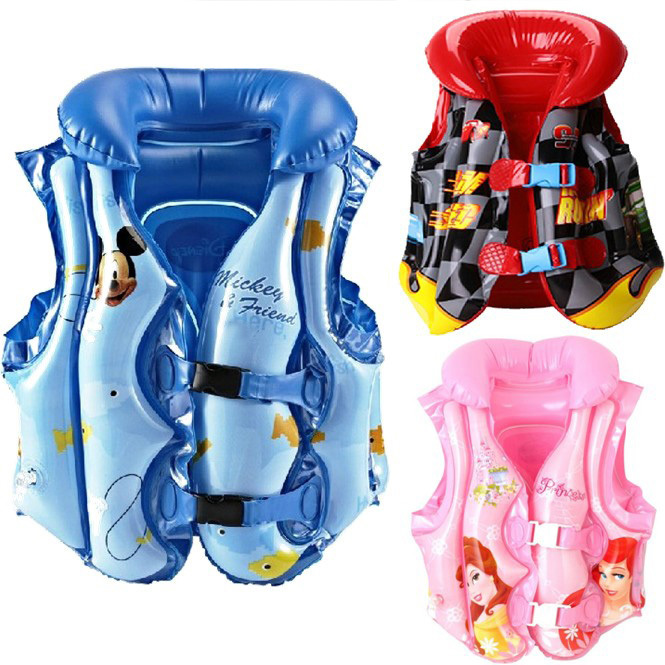 Disney Mickey Life Jacket Swim Safe Vest Aid Suit Life-Saving Survival Suit