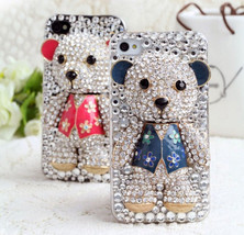 Lovely crystal Bear bling rhinestone Cover case for All mobile phone models - $19.62+