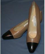 Etienne Aigner Heels Pumps Sz 8 N 8N Two Tone Leather Uppers Marietta - $32.56