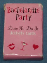 Dare to Do It Bachelorette Party Activity Cards Game Novelty - $10.70