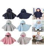 Baby Kids Toddler Reversible Hooded Cape Cloak Poncho Coat Hoodie Jacket... - $26.50