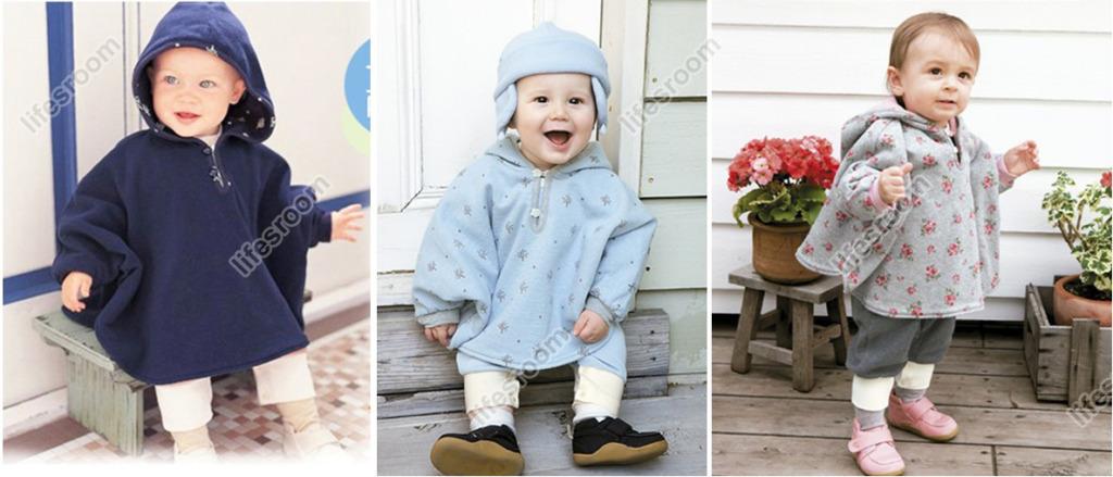Baby Kids Toddler Reversible Hooded Cape Cloak Poncho Coat Hoodie Jacket Outwear image 2
